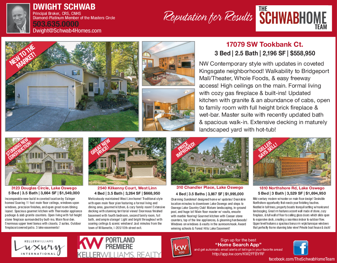 Three Bedroom And Two bath House in Lake Oswego, OR, Real Estate