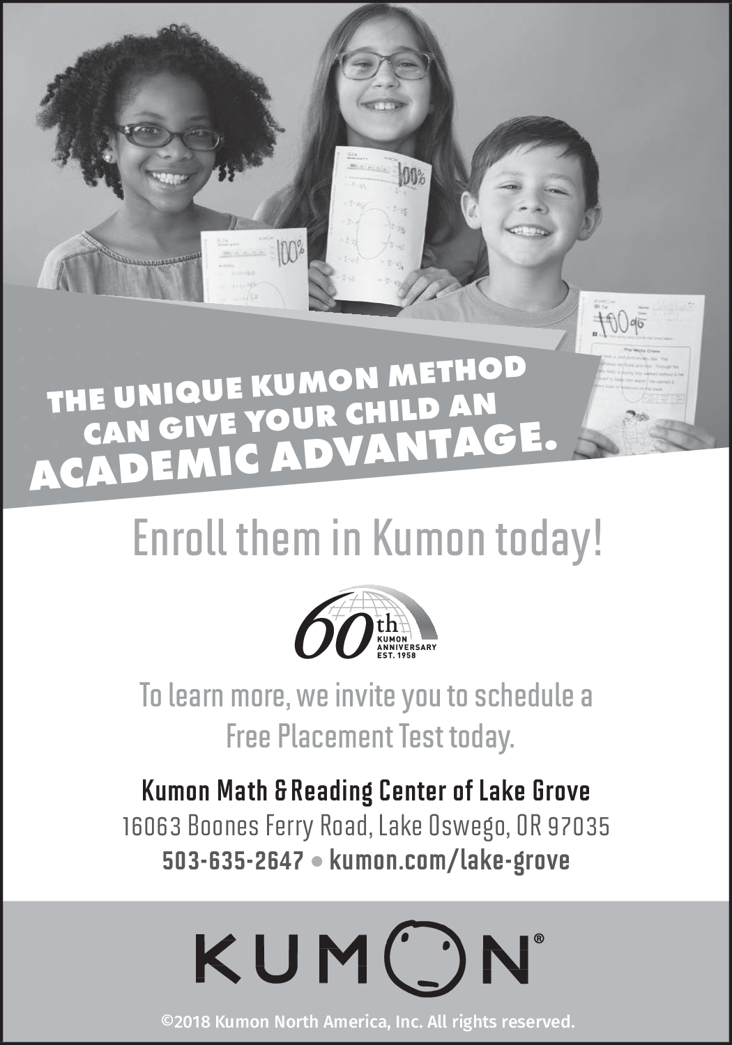 Schedule A Free Placement Test in Lake Oswego, OR, Coaching - Kumon